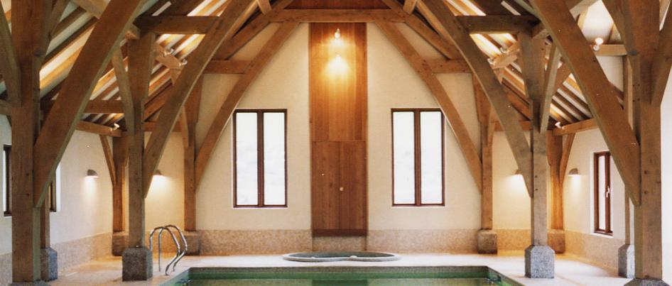 Oak framed pool.