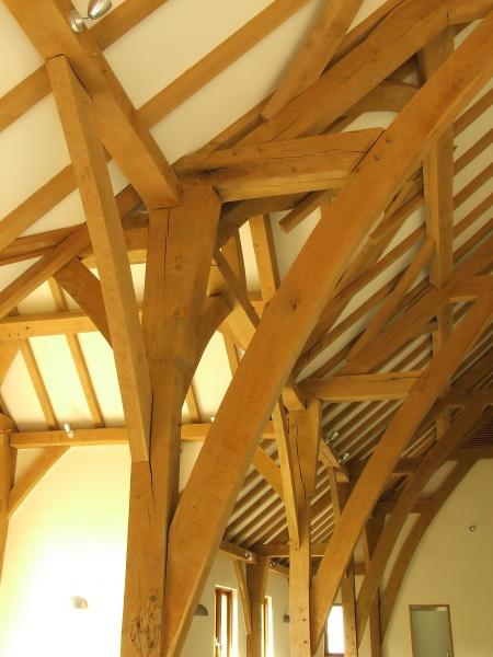Oak frame joinery.