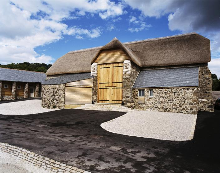 Exterior of the Great Barn, Devon.
